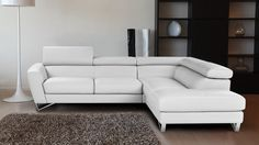 J&M Sparta Sectional Right White
