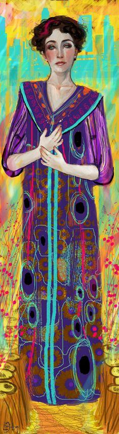 Sweet, sweet scents (inspired by Klimt) - by illustrator ©Lisa Falzon (meluseena) via deviantART