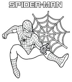 spiderman halloween coloring pages - photo#29