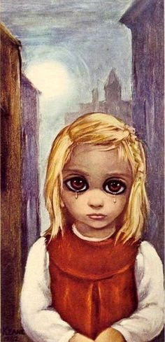 Margaret Keane: Mother of Big-Eye Art I have this print! Got it at an antique shop around Christmas because it reminded me of the portraits of myself as a toddler where I would cry before the photo shoot. Big Eyes Margaret Keane, Keane Big Eyes, Margret Keane, Keane Artist, Big Eyes Paintings, Realistic Eye Drawing, Drawing Eyes, Manga Drawing, Eye Painting