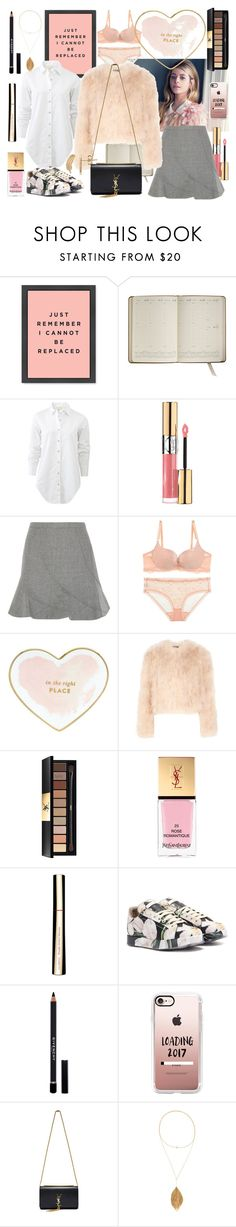 """""""Nothing that you say can change this feeling"""" by juinn ❤ liked on Polyvore featuring Graphic Image, rag & bone, Yves Saint Laurent, J.Crew, Kate Spade, Alexander McQueen, Clarins, Dolce&Gabbana, Givenchy and Casetify"""