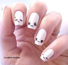 9 Best Kawaii Nail Art Designs:Kawaii easy to do free hand nails: