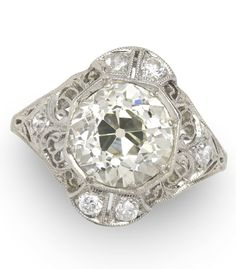 Art Deco Diamond Ring. Find the perfect engagement ring and wedding jewelry at Gem Shopping Network.