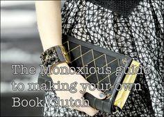 monoxious book clutch DIY guide