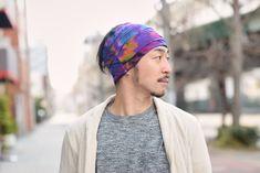 Psychedelic Tie-Dye Wide Headband #mensfashion #mens #mensheadwear #japanesestreetfashion #japanstreetfashion #streetfashion #fashion #japan #japanese #japanesemodel #tie-dye #dope #japaneseheadband #headband #wideheadband
