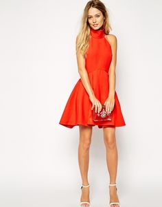 Enlarge Finders Keepers Smoke Trails Skater Dress with Roll Neck