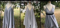 Voici un tuto pour réaliser très rapidement une robe en jersey grâce à Viny DIY ! Tuto vidéo, gratuit, français, couture, femmes