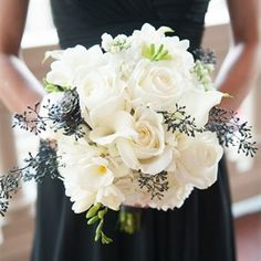 Black and White Bridesmaid Bouquets