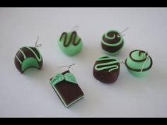 Chocolate Mint Collection Tutorial, Polymer Clay Miniature Food Tutorial - YouTube