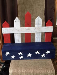 4th of July Flower Bench