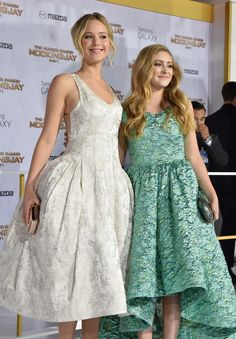 Willow Shields and Jennifer Lawrence Mockingjay Part 1 LA Premiere
