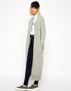 Basket Weave Longline Cardigan, £125 | ASOS White