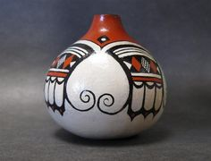 Hopi Dreams, native american, pottery style gourd,miniature,free shipping,southwest