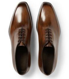 Berluti Alessandro Capri Venezia Leather One-Cut Shoes
