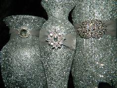 Wedding Centerpiece Wedding Decorations Silver Black by KPGDesigns, $39.00