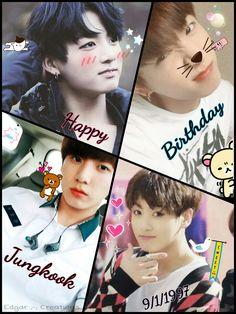 Bts Jungkook Happy birthday baby kookieee!!! Love you soo much -Edgar ;-; Creations