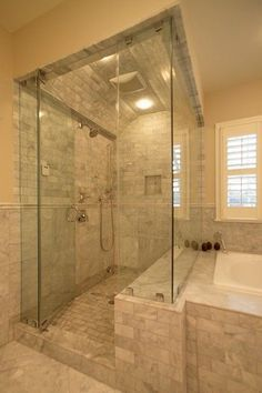 Image result for shower with inset tub attached