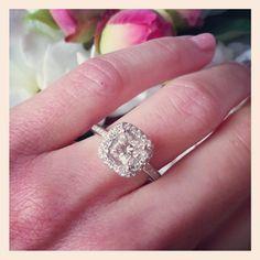 pretty engagement ring :)