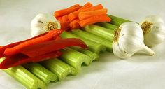 Celery, garlic, carrots and red peppers are good for my love menu ..