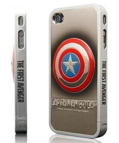 86hero Marvel Avengers 3d Silver Iphone Case Cover for Iphone4 4s - Captain  America 644804de8f5