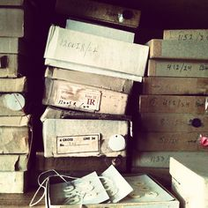 Boxes and boxes of vintage buttons!