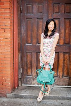 WEARABLE BOUQUET / Floral crochet dress with bow-back and bright Chloe Marcie