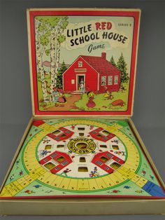 1952 Little Red School House Board Game by Parker Bros.