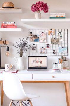 Home Office Room Design Ideas Study Room Decor, Cute Room Decor, Bedroom Decor, Small Desk Bedroom, Small Bedroom Furniture, Bedroom Modern, Small Bedrooms, Closet Bedroom, Trendy Bedroom
