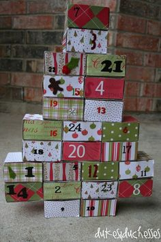 24 days of service advent calendar made with matchboxes