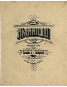 Sanborn Insurance map - Texas - AMARILLO - 1921
