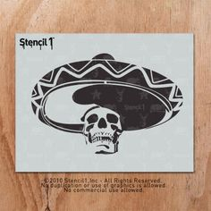 Cinco de Mayo stencil fun at Stencil1!  La Calavera stencil.