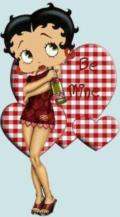 Betty Boop - Valentine's Animated Cartoon Characters, Disney Characters, Black Betty Boop, Brown Betty, Betty Boop Cartoon, Betty Boop Pictures, Favorite Cartoon Character, Arte Pop, Jolie Photo