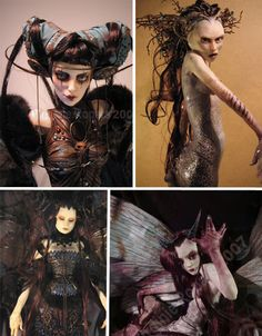 Dark Twisted Fairies featured artists and dolls look eerie-ly fasciniating. (this one is by Virginie Ropars) Ooak Dolls, Art Dolls, Bjd, Horror, Polymer Clay Dolls, Mystique, Creepy Dolls, Doll Parts, Sculpture Art