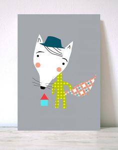 Lámina infantil Fox- Menudos Cuadros