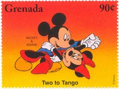 "Grenada - Mickey & Minnie ""Two to Tango"" Walt Disney, Disney Fun, Disney Mickey, Mickey Mouse Art, Disney Mouse, Stamp World, Seven Years' War, You've Got Mail, Love Stamps"