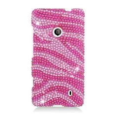 Insten Hot / Zebra Hard Snap-on Diamond Bling Case Cover For Nokia Lumia 521