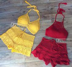 Read the description ⤵. Read the description ⤵. Crochet Pants, Crochet Braids, Crochet Yarn, Crochet Clothes, Hand Crochet, Knit Crochet, Black Lace Leggings, Crochet Bathing Suits, Two Piece Swimwear