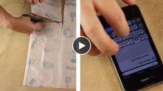 Une astuce très simple vous permettra de fabriquer vous-même des films de protection pour votre écran de téléphone...