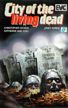 """""""City of the Living Dead"""" aka """"The Gates of Hell"""" (1980) VHS cover art"""