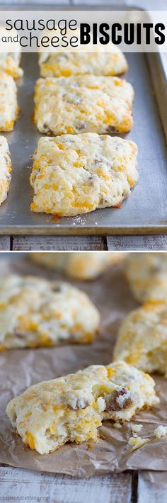 Perfect for breakfast on the run, this Sausage and Cheese Biscuit Recipe has all the goodness of breakfast combined into one jumbo biscuit that is tender and filled with flavor.