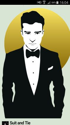 Suit and Tie Justin Timberlake in Adobe Illustrator
