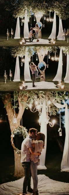 and Jadyn's Proposal on The Knot's He thought of every detail for this romantic outdoor proposal, and the photos are stunning!He thought of every detail for this romantic outdoor proposal, and the photos are stunning! Romantic Proposal, Perfect Proposal, Romantic Weddings, Proposal Photos, Surprise Proposal, The Knot, Wedding Proposals, Marriage Proposals, Propositions Mariage