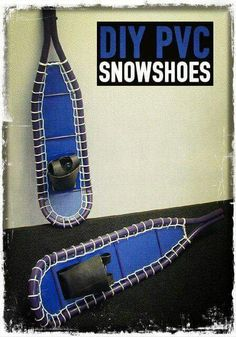 How to Build Your Own PVC Snowshoes. This would be good for kids since it's so hard to find little snow shoes. Bushcraft Camping, Camping Survival, Outdoor Survival, Survival Prepping, Survival Gear, Survival Skills, Outdoor Camping, Bushcraft Skills, Survival Stuff