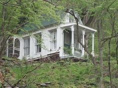 Victorian cottage in the woods