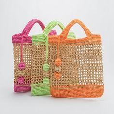 Crochet Market Bag, Crochet Tote, Crochet Handbags, Crochet Purses, Diy Crochet, Crochet Crafts, Hand Crochet, Crochet Baby, Crochet Blanket Patterns