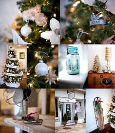 Christmas 2011 ( Globe and book print ornaments made from pins on Pinterest!)