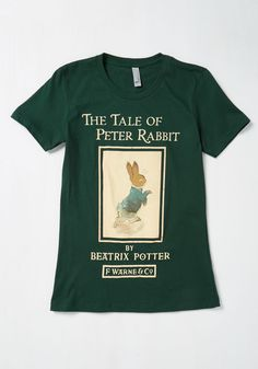 Size Medium, please! — A Cautionary Tail T-Shirt. Your favorite books taught you many important lessons - most notably, that this dark green T-shirt makes a lovely and literary fashion statement! #green #modcloth