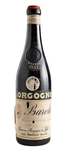 Bottiglie Storiche : Barolo Riserva 1937 - Giacomo Borgogno