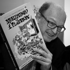 Francisco Ibáñez, 2012. Tal día como hoy, en 1958, nacen los inmortales detectives Mortadelo y Filemón en la revista «Pulgarcito». Detective, Celebrity Books, Reading, Celebrities, Journals, Libros, Author, Celebs, Reading Books