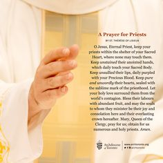 On this WorldDayofPrayerForPriests, please continue to pray for all priests who faithfully serve our communities. #priests #prayer #priest #catholic